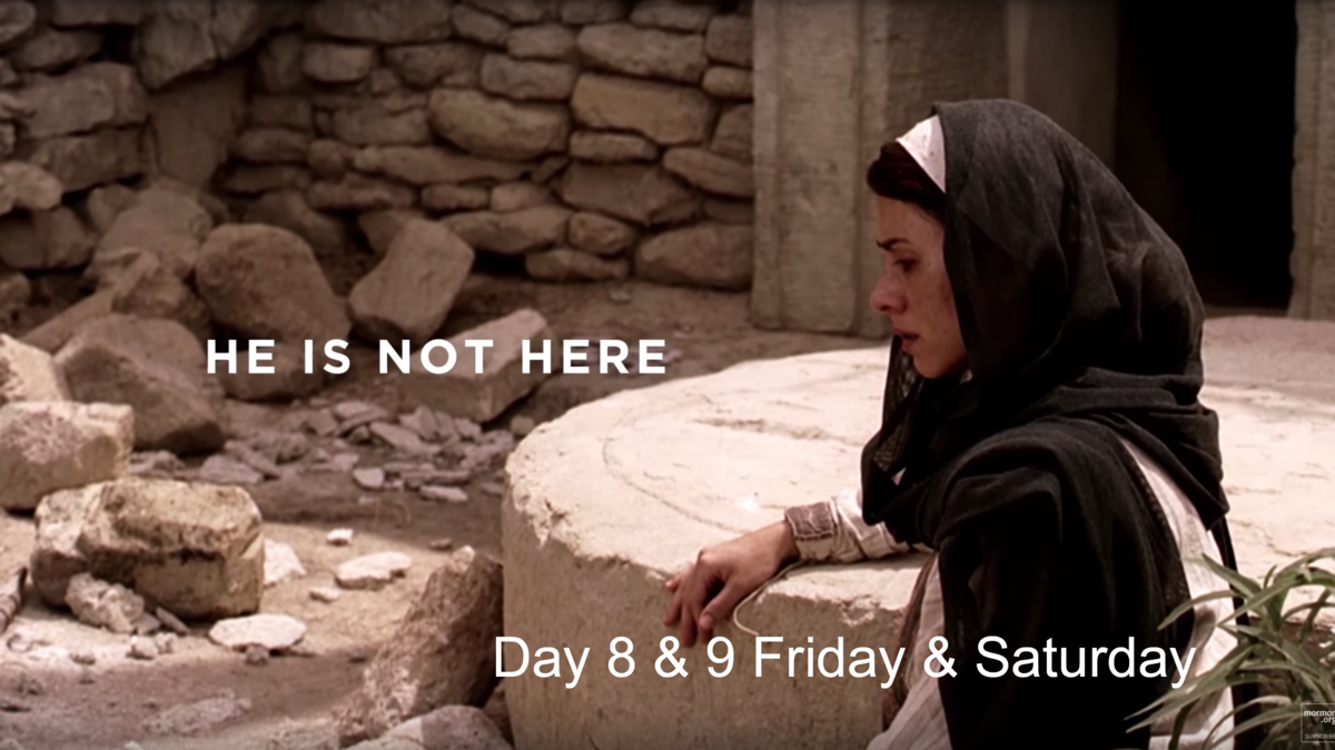 Mary visits the tomb but Jesus is not there