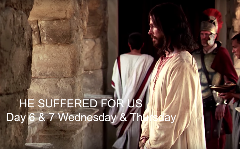 Jesus Christ suffered for us. He paid the price and took upon himself the sins of the world.