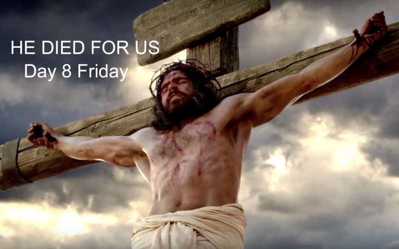 Jesus Christ died for us. He took upon himself the sins of the world thus allowing us to return to our heavenly father.