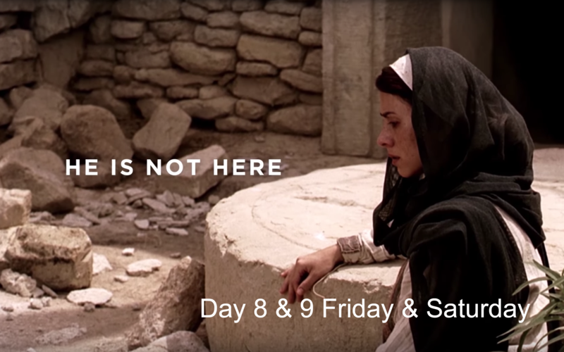 Mary went to the tomb to see Jesus Christ. When she got there he was not there.