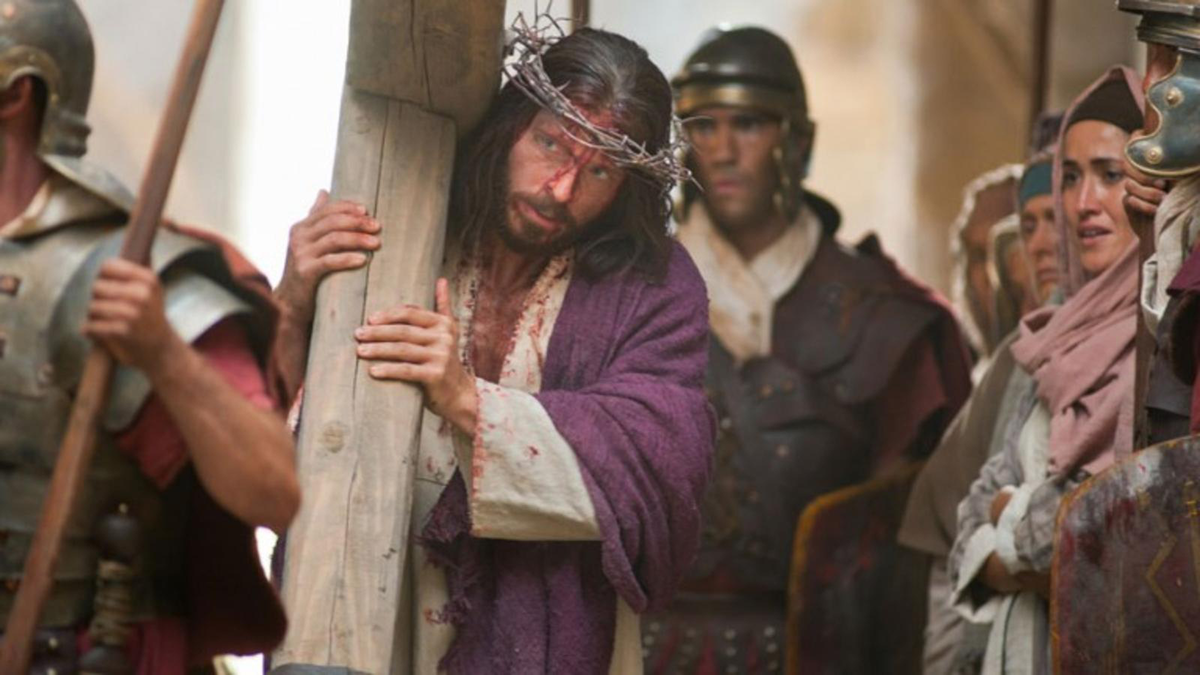 Jesus Christ is scourged and crucified