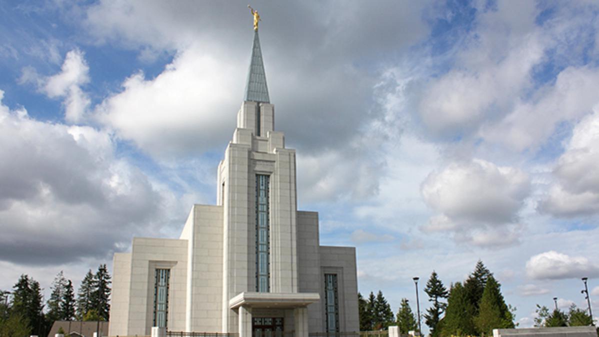 Image of the Mormon Vancouver Temple, Canada