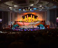 The Tabernacle Choir and Orchestra at Temple Square perform in the Conference Center