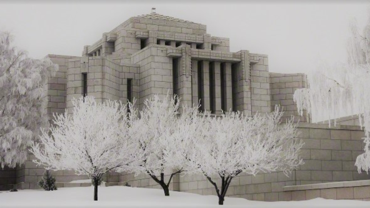 Cardston Temple Winter