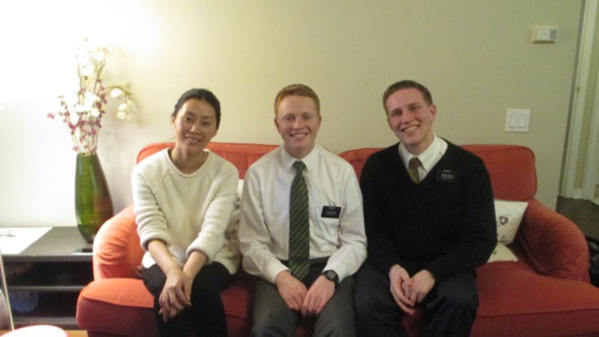 Jane Liu et les missionnaires en Sion