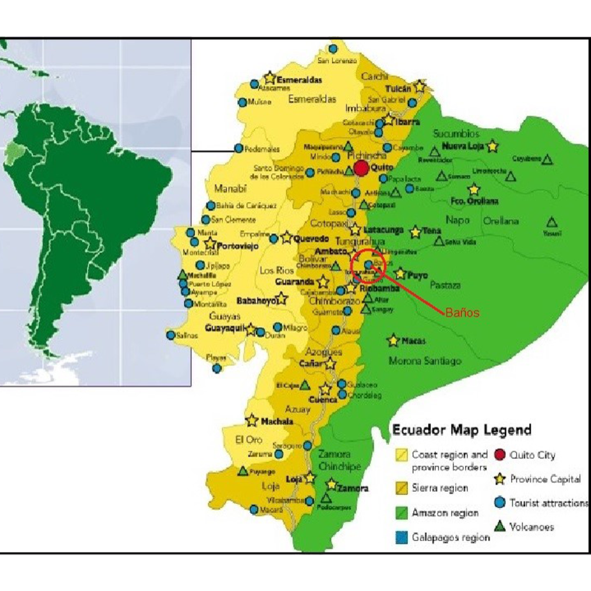 Ecuador and South America Map