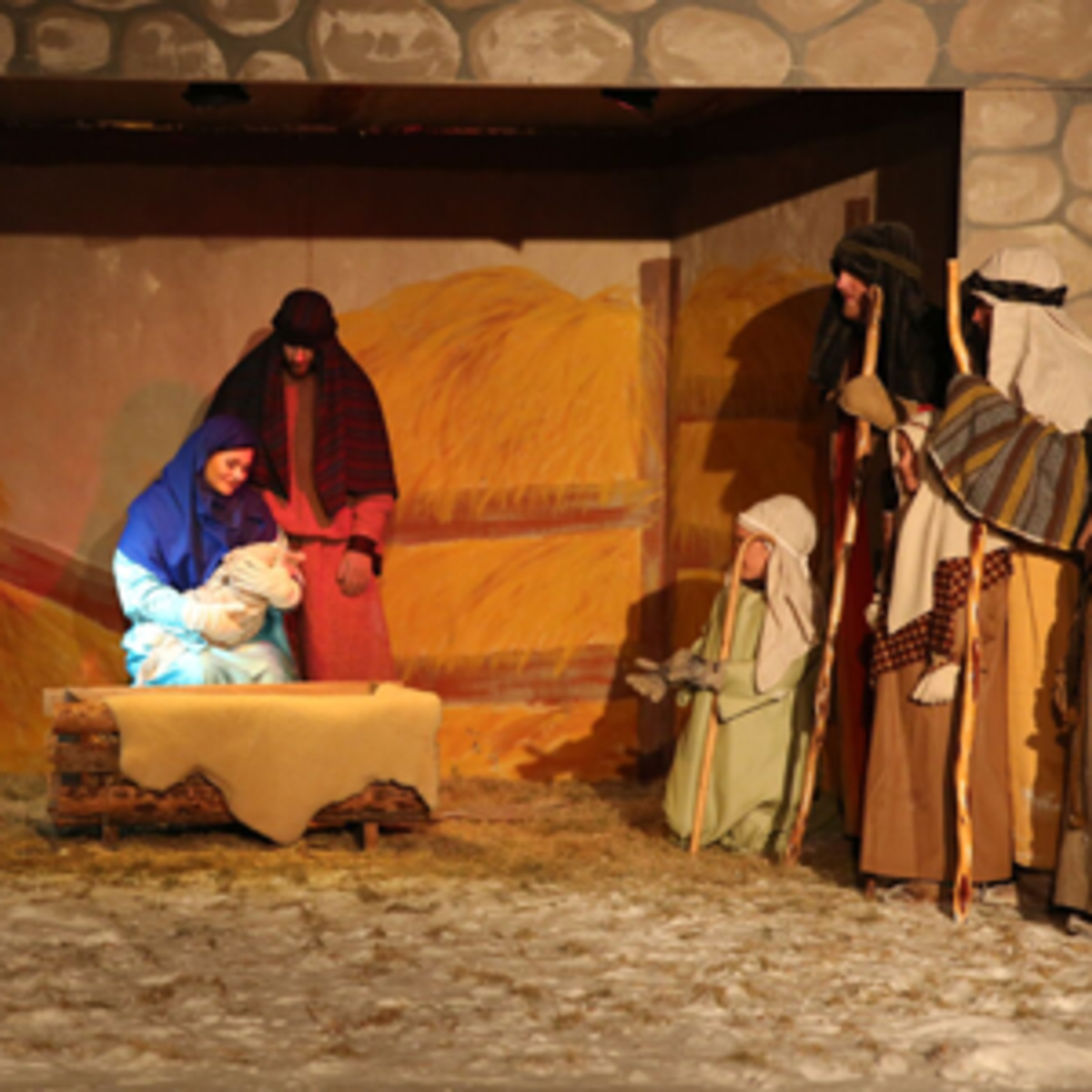 Shephards with Joseph and Mary