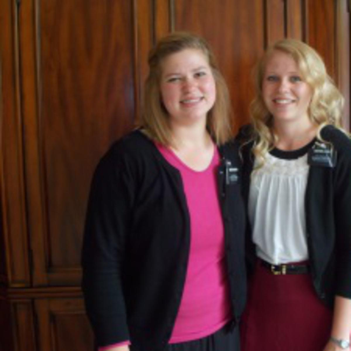 sister missionaries from LDS church