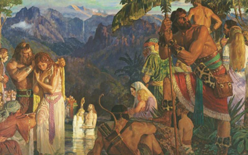 Alma baptizing people