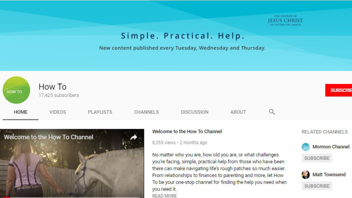 Home page of the How To Channel