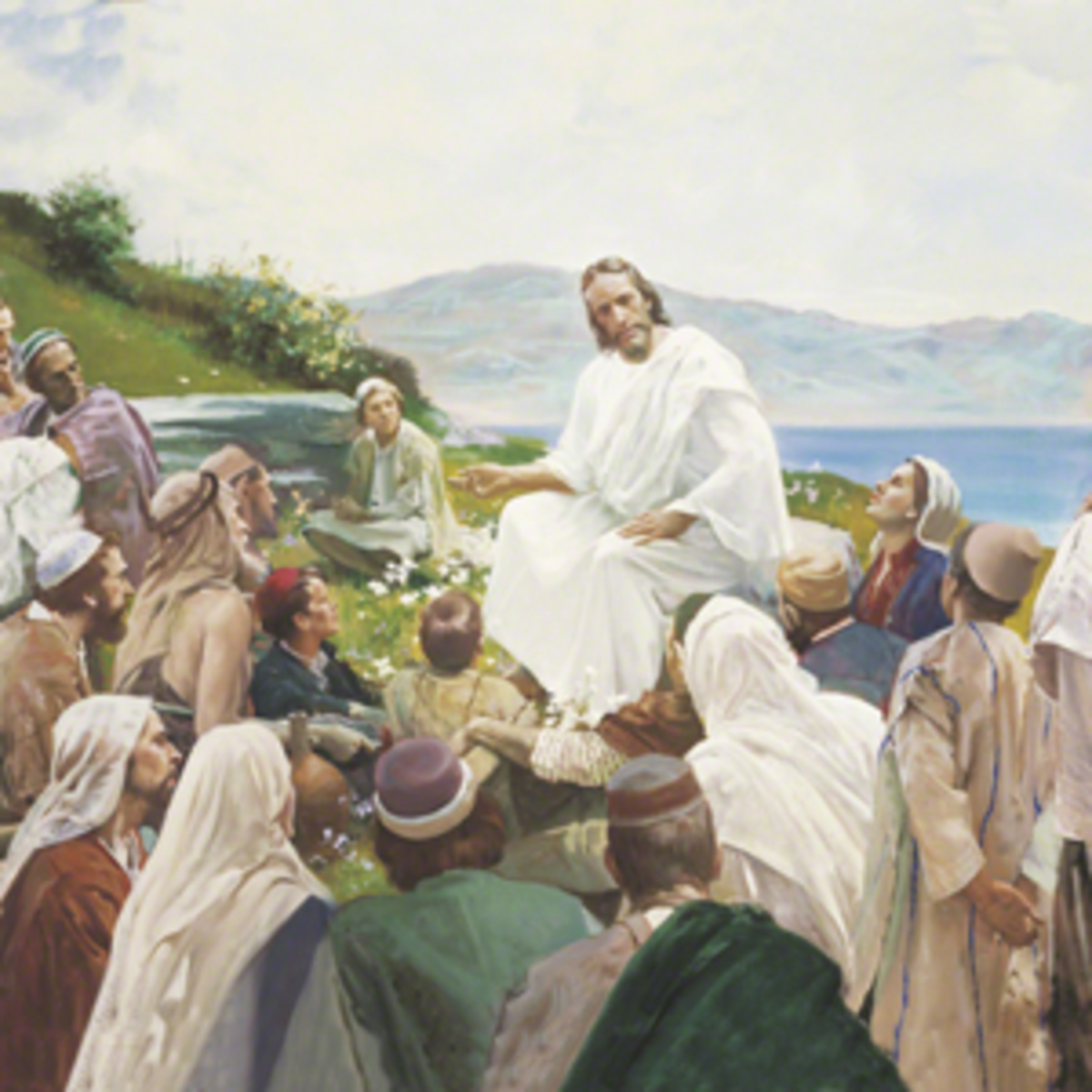 Jesus Christ teaching the people