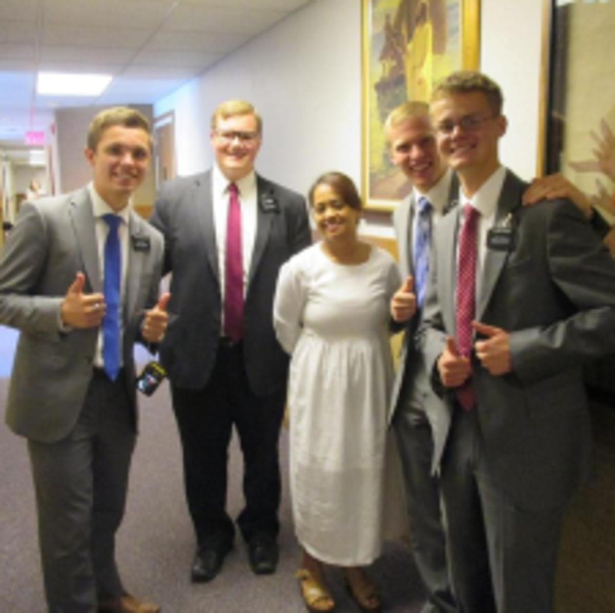 missionaries at baptism