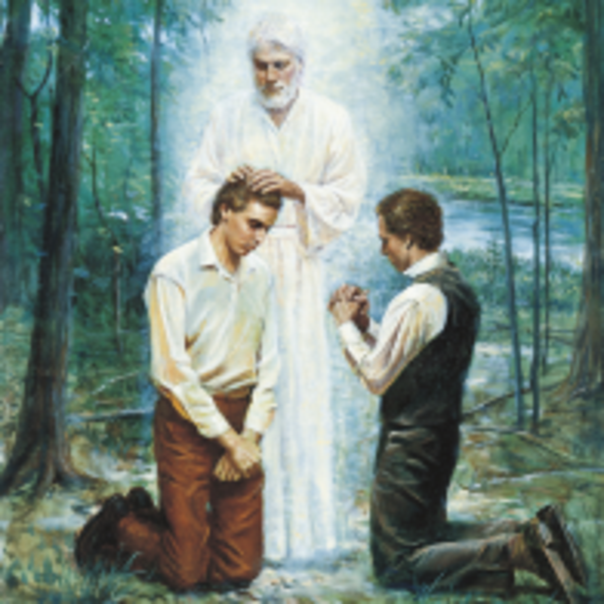 angel ordaining Joseph Smith