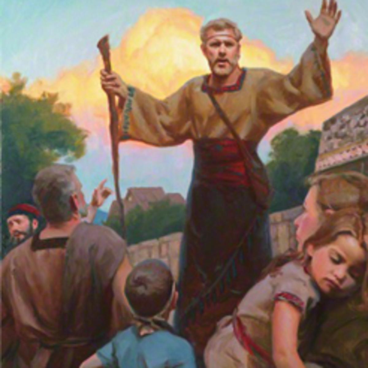 Nephi teaching the people