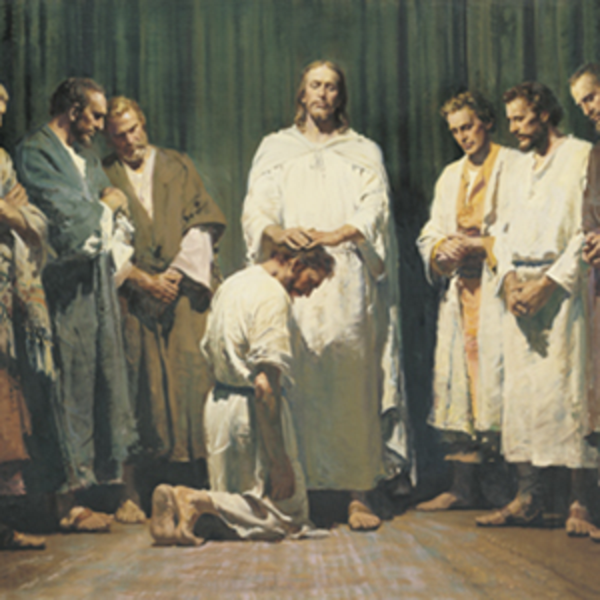 Jesus Christ ordaining the apostles