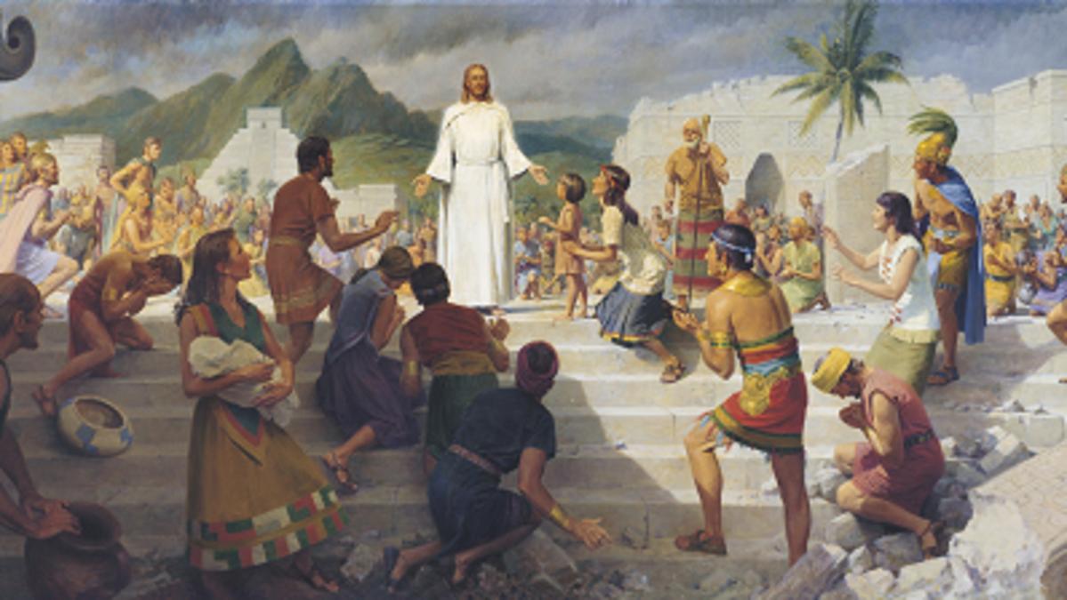 Jesus Christ Teaching the Nephites
