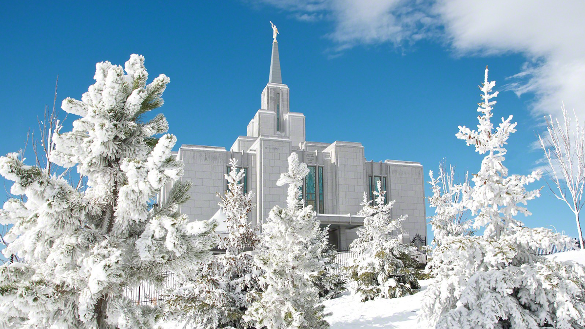 Calgary Temple in the winter