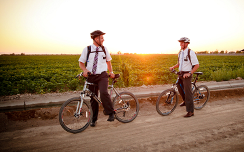 MIssionaries on bicycles
