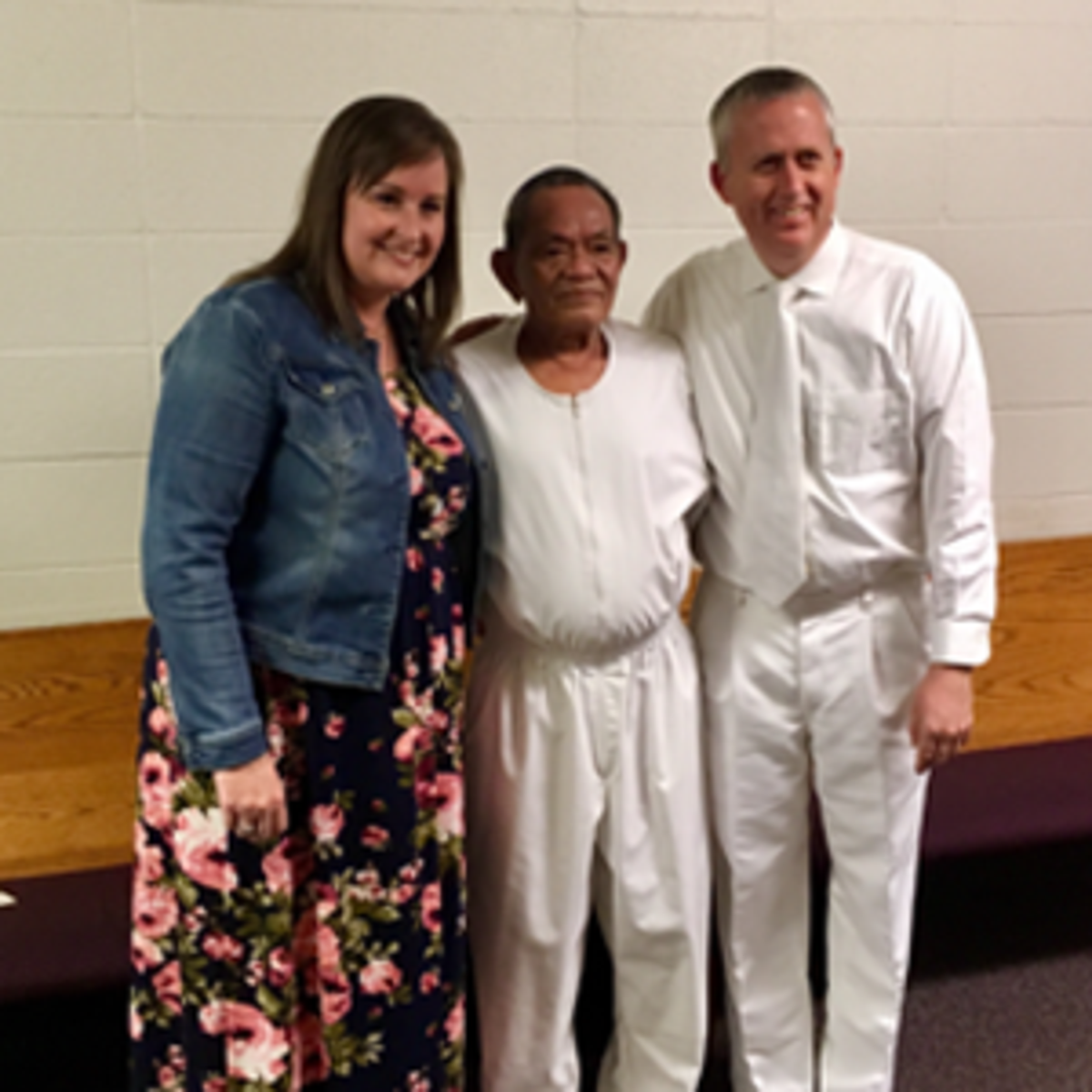 Rolly and his family at his baptism
