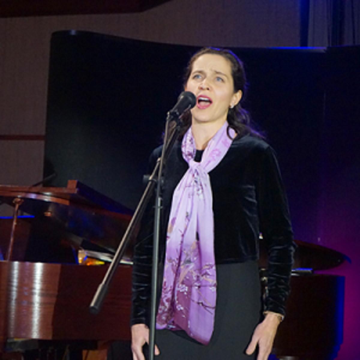 "Julie Duerichen sang the hymn ""Be Still, My Soul."""
