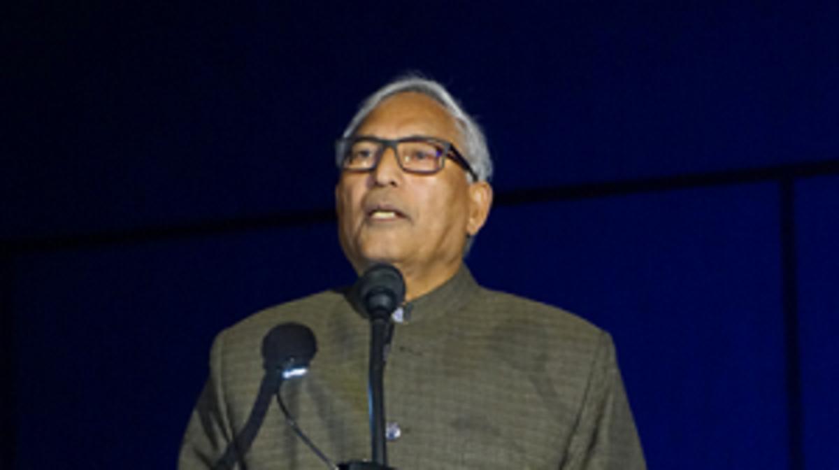"Acharya Shrinath Dwivedi shared a Hindu poem titled ""Peace."""