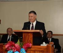 Rededicaci c3 b3n del CCM, Carlos H. Amado, Presidente del c3 rea Centroam c3 a9rica.jpg