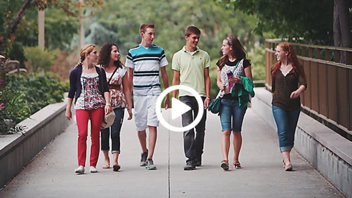 LDS Youth walking