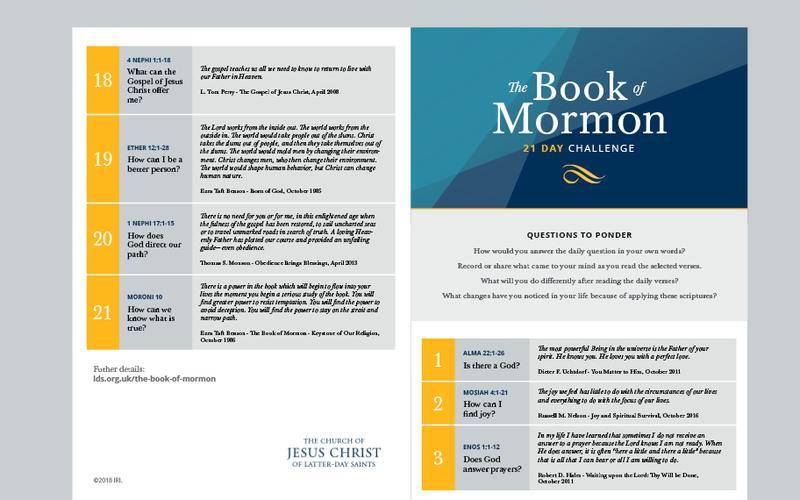 The Book of Mormon calendar