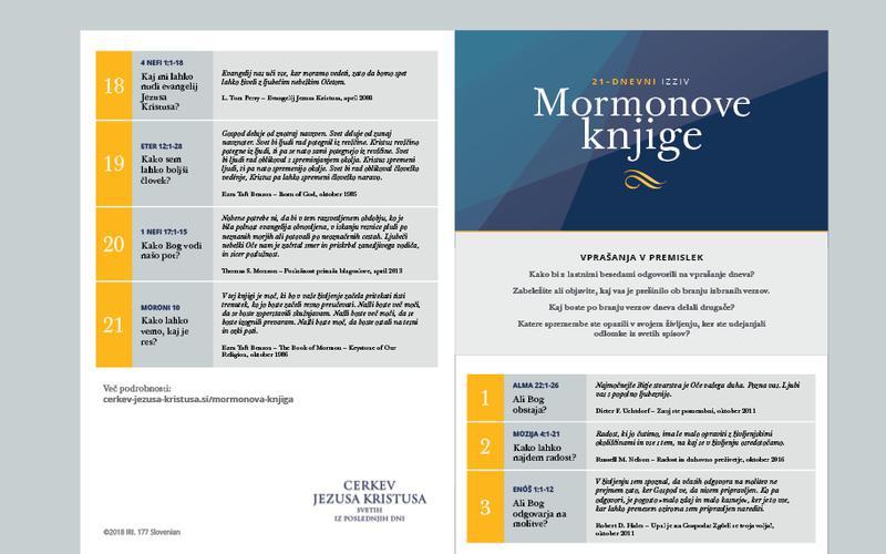 21-dnevni koledar Mormonove knjige