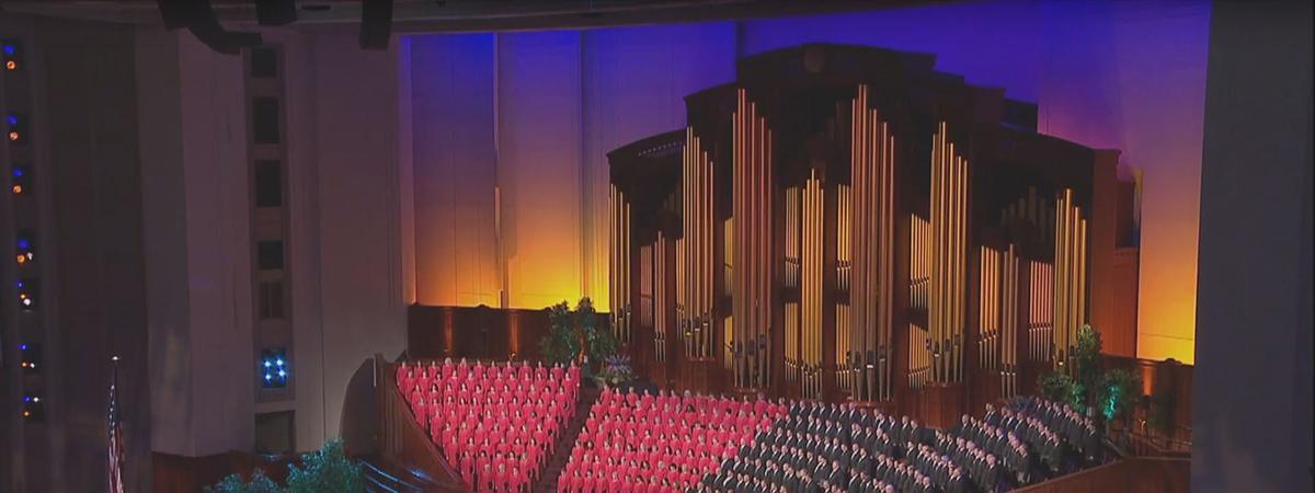 Zene és Próza – heti élő közvetítés a Mormon Tabernákulum Kórussal