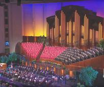 Mormon Tabernacle Choir singing in the Conference Center