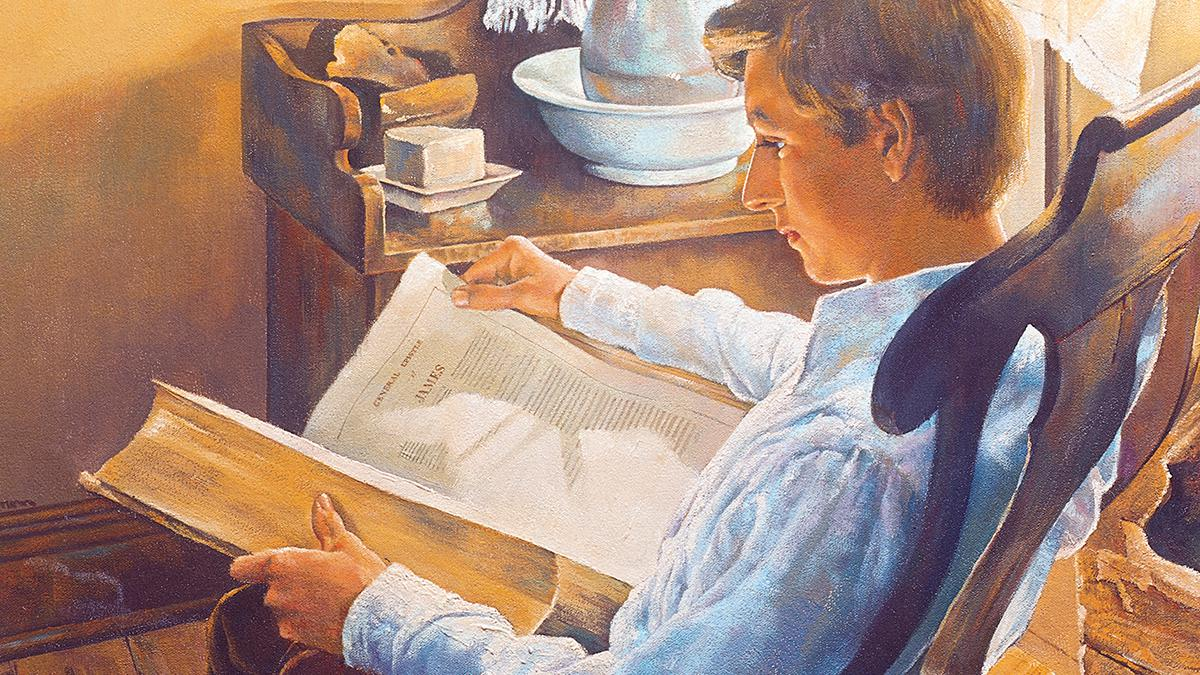 Young Joseph Smith, the future founder of The Church of Jesus Christ of Latter-day Saints, sought answers to his questions from the Bible.