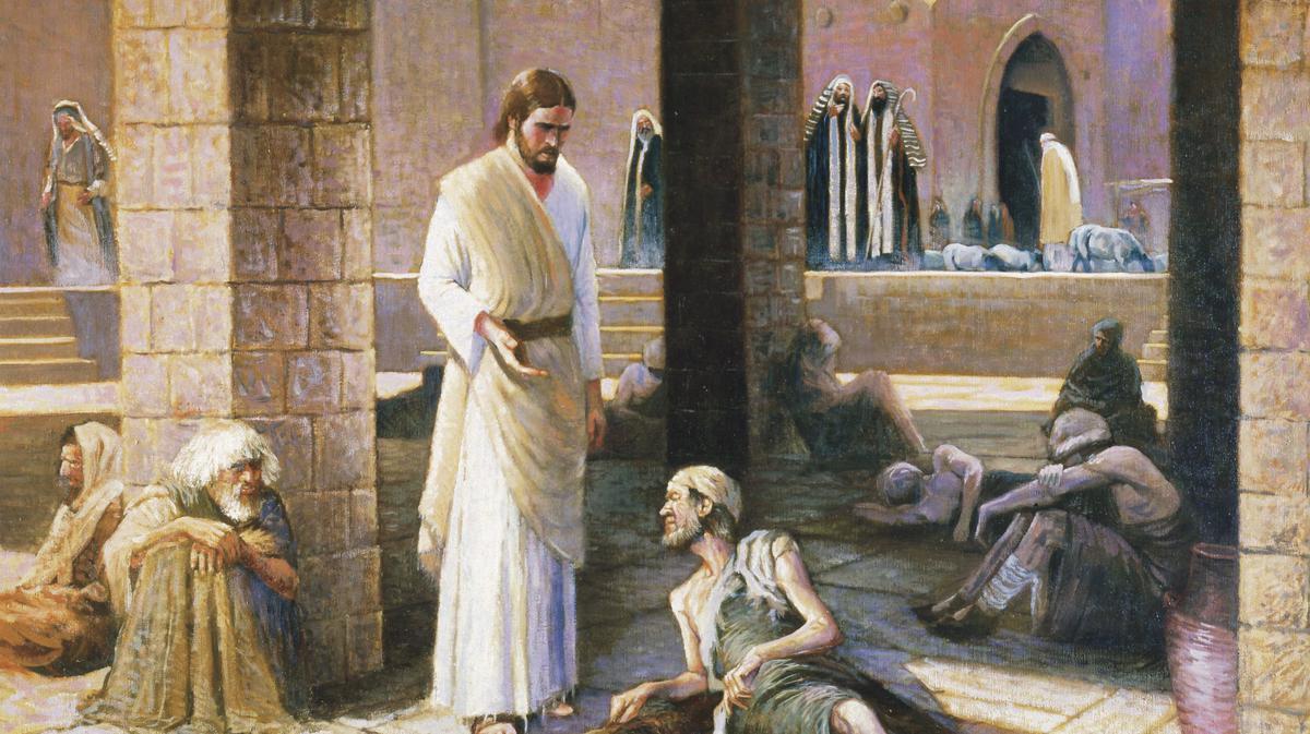 Jesus cura um homem