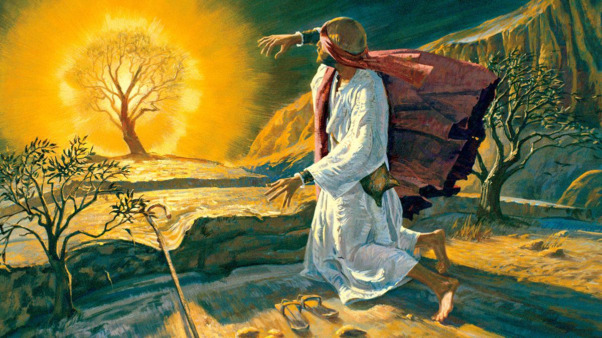 Moisés y la zarza ardiendo