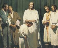Ifølge de siste-dagers-helliges lære kom Jesus Kristus til jorden som Guds Sønn i bokstavelig forstand, og fulgte Faderens vilje i alle ting.