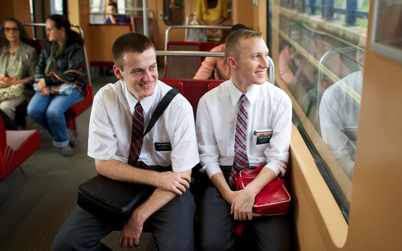 Latter-day Saint missionaries spend their time serving others and teaching people about the gospel of Jesus Christ.