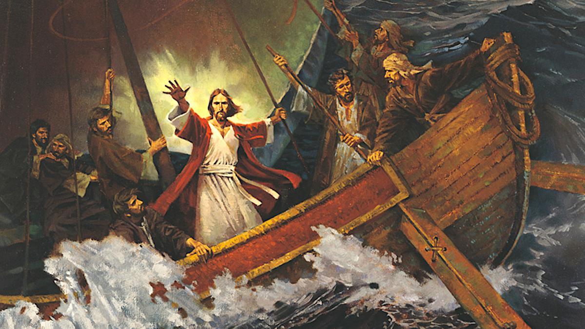 Jesus befiehlt dem Sturm