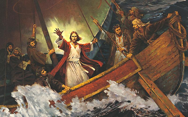 Ježíš Kristus uklidňuje bouři