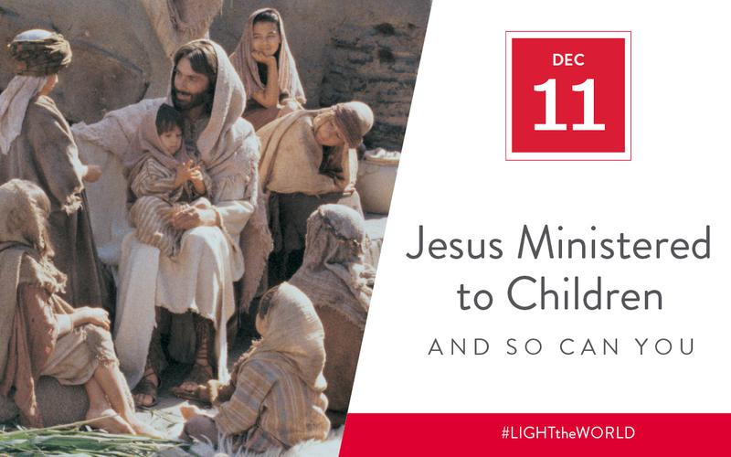 Jesus ministered to children