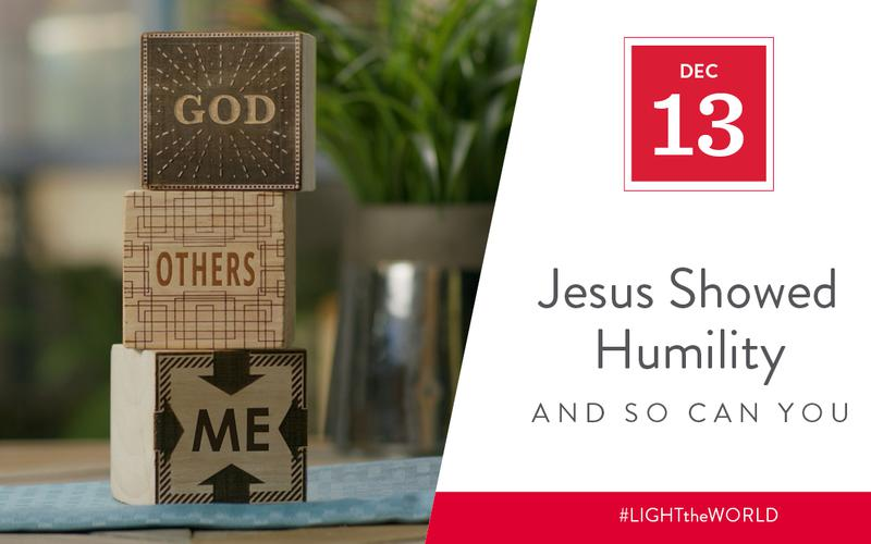 Jesus showed humility