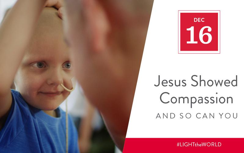 Jesus showed compassion