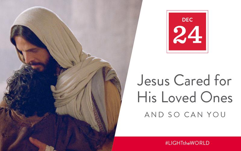 Jesus cared for his loved ones