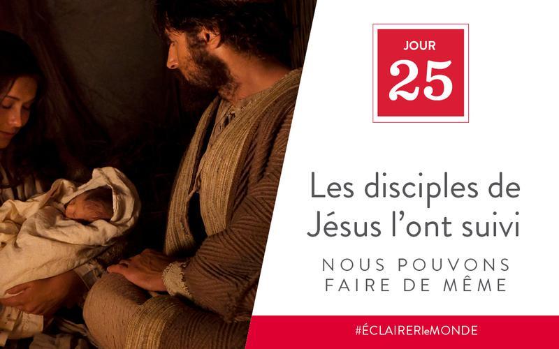 Les disciples de Jésus l'ont suivi, nous pouvons faire de même