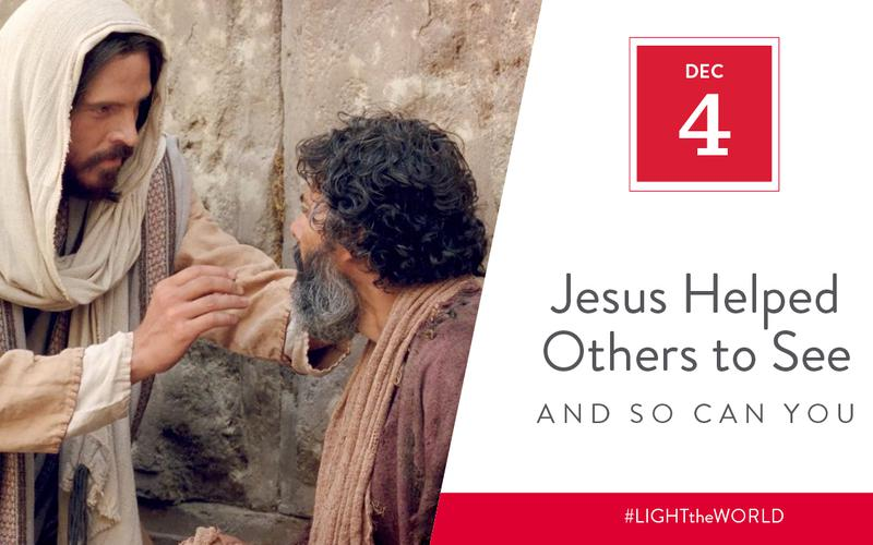 Jesus helped others to see
