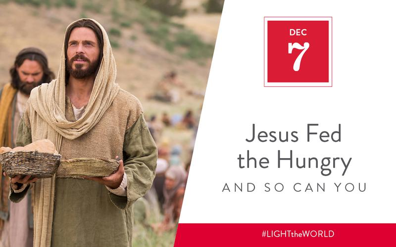 Jesus fed the hungry