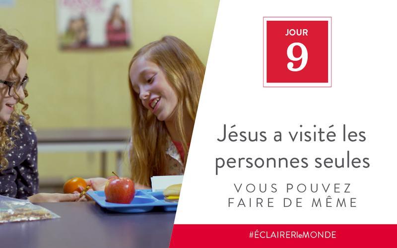 Jésus a visité les personnes seules, vous pouvez faire de même
