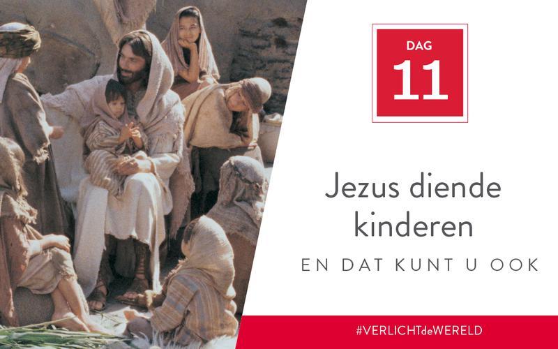 Jezus diende kinderen en dat kunt u ook