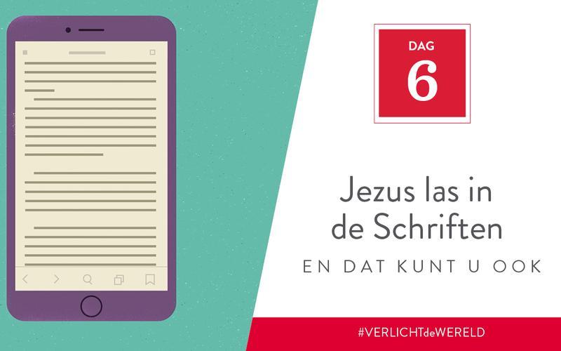 Jezus las in de Schriften en dat kunt u ook