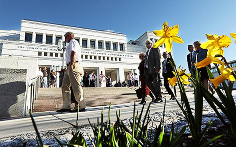 Das Konferenzzentrum der Kirche Jesu Christi der Heiligen der Letzten Tage