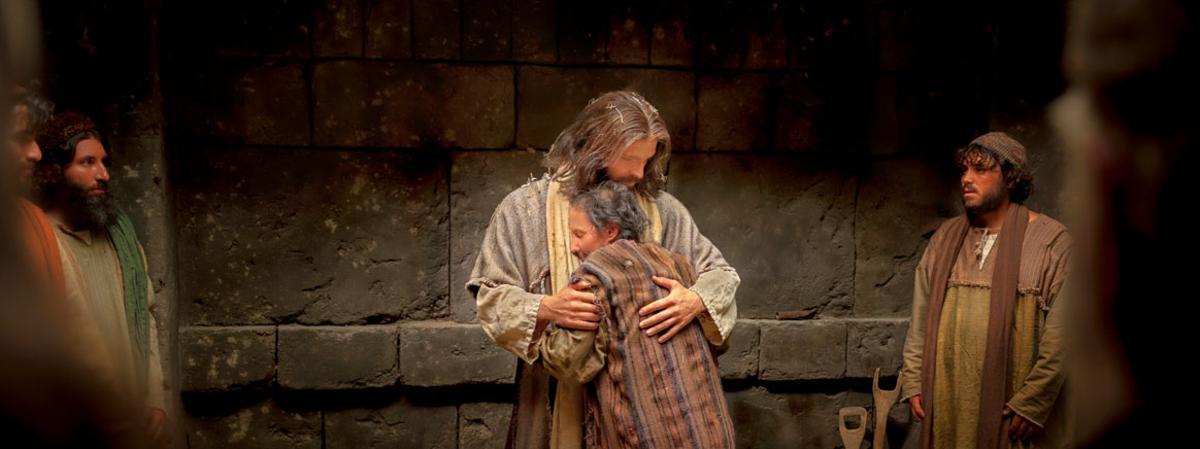 Jésus qui réconforte